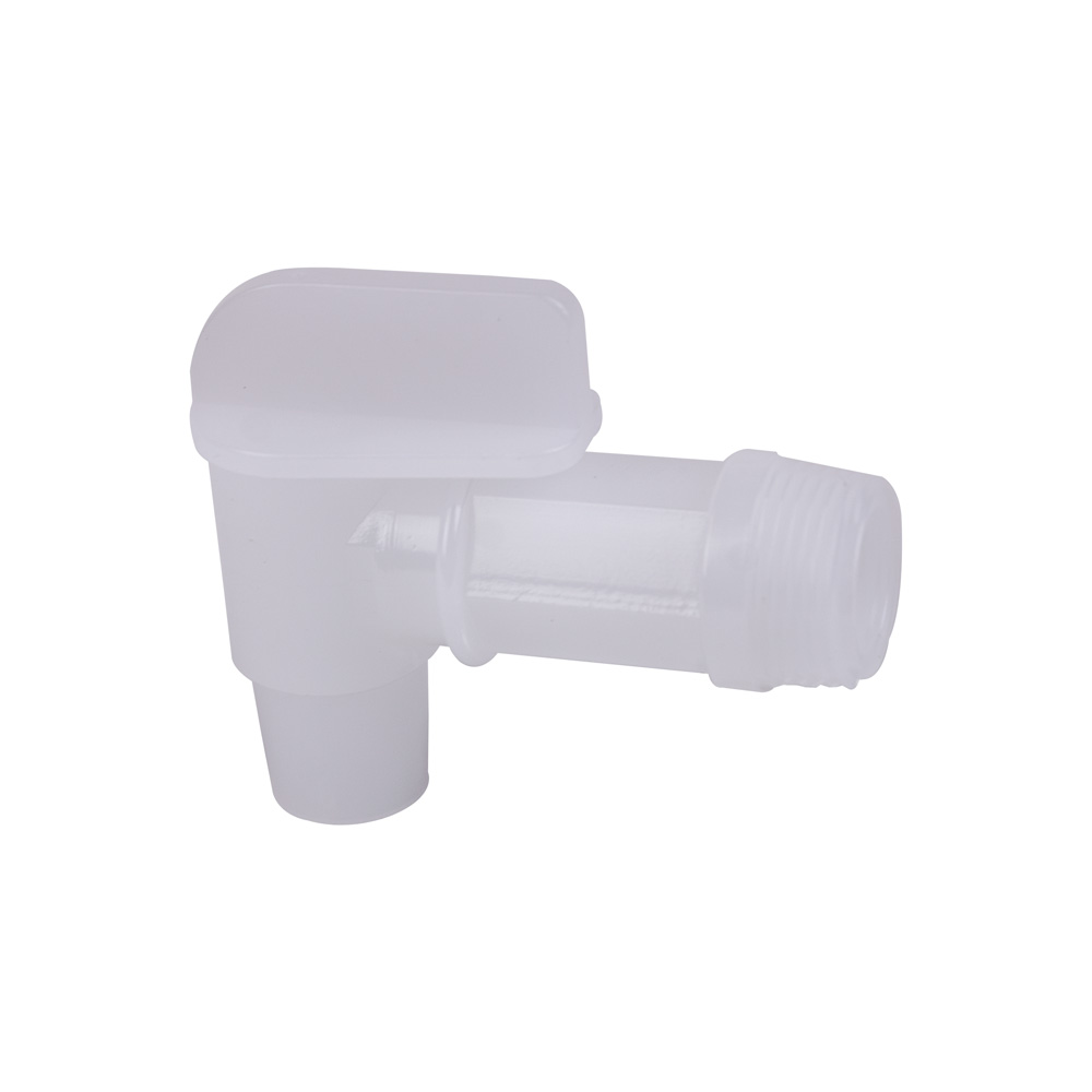 "3/4"" White Drum Faucet with 7/8"" OD Outlet"