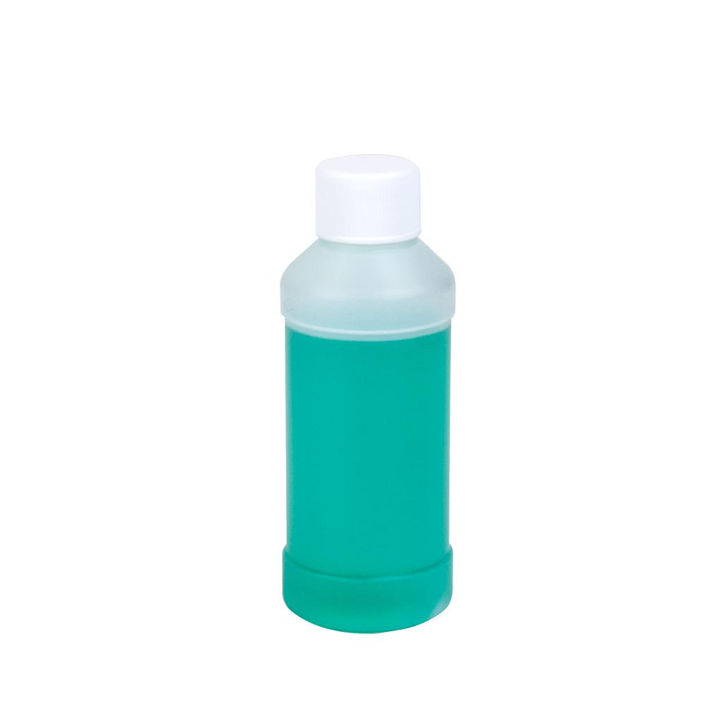 4 oz. Natural HDPE Modern Round Bottle with 24/410 Plain Cap
