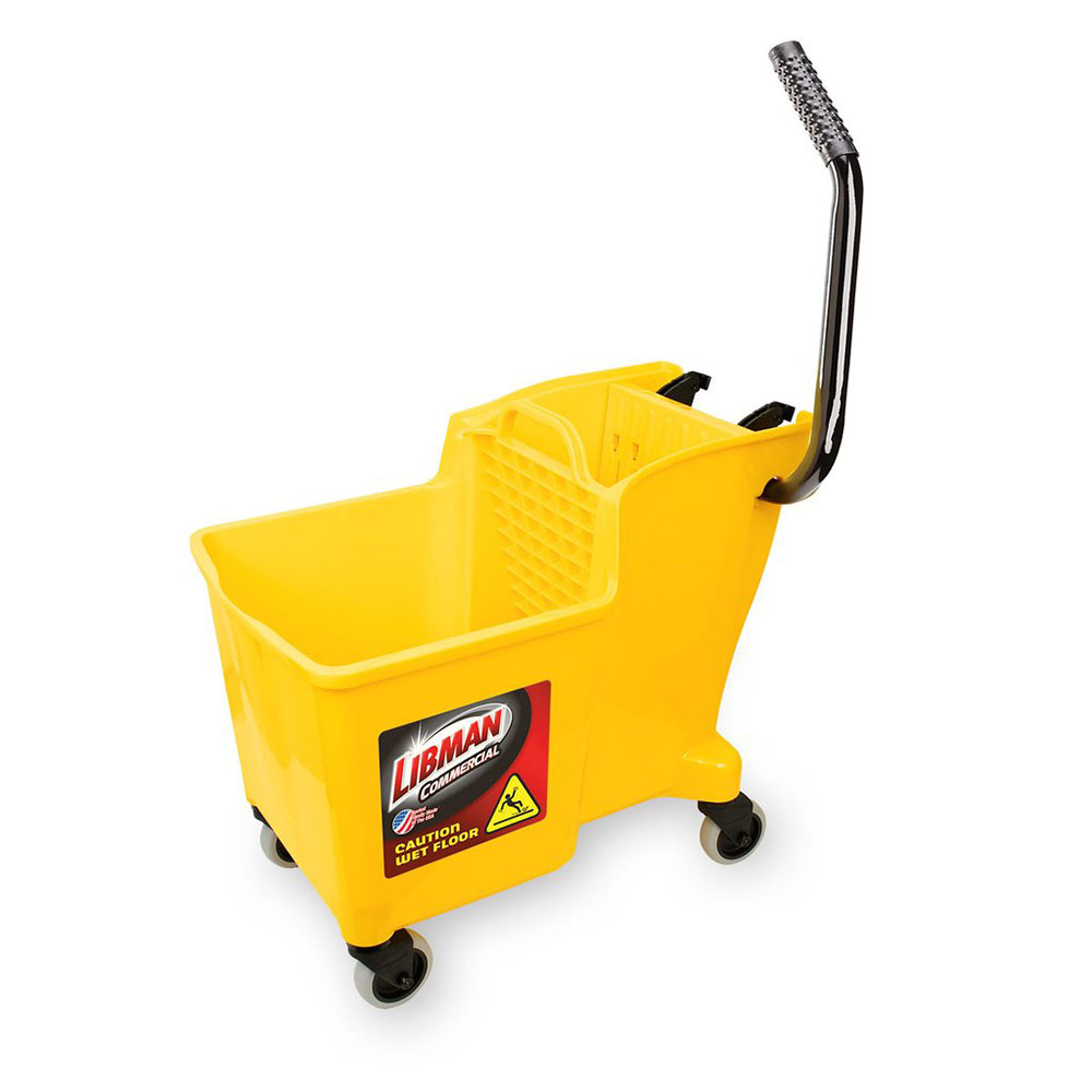 32 Quart Yellow Libman Mop Bucket with Integrated Wringer