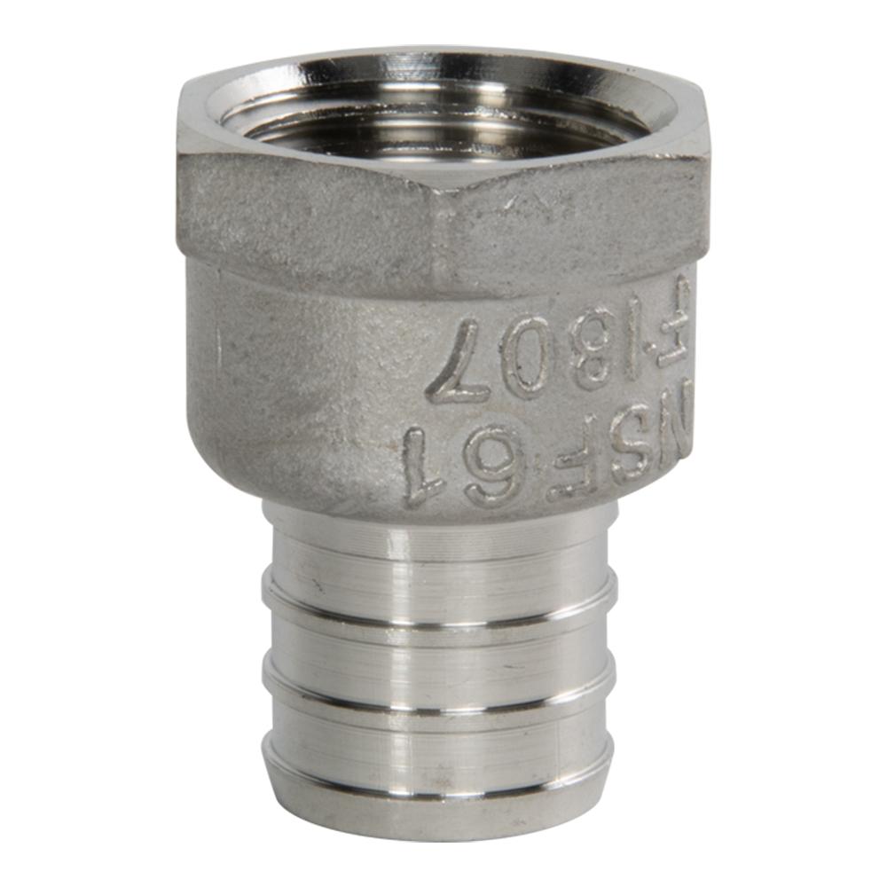 "3/4"" PEX x 3/4"" FNPT Stainless Steel Female Adapter"