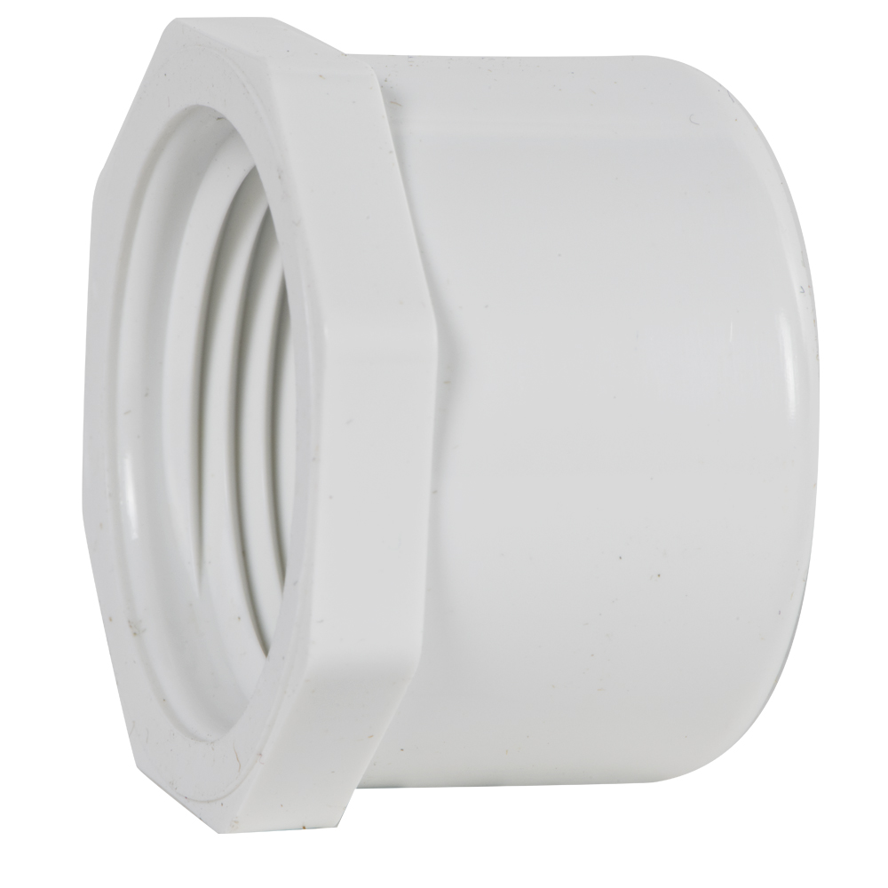 "2"" Schedule 40 White PVC Threaded Cap"