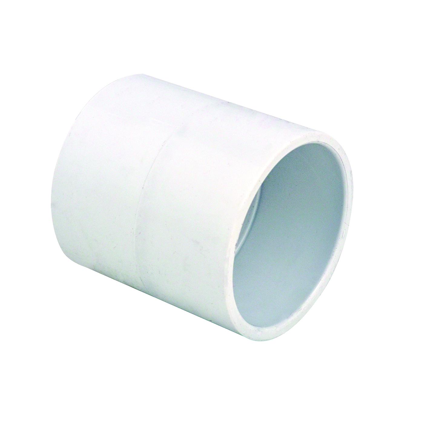 "3/4"" Schedule 40 White PVC Socket Coupling"