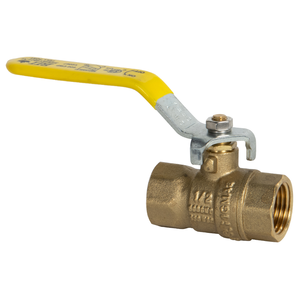 "1/2"" FNPT Brass Full Port Ball Valve"