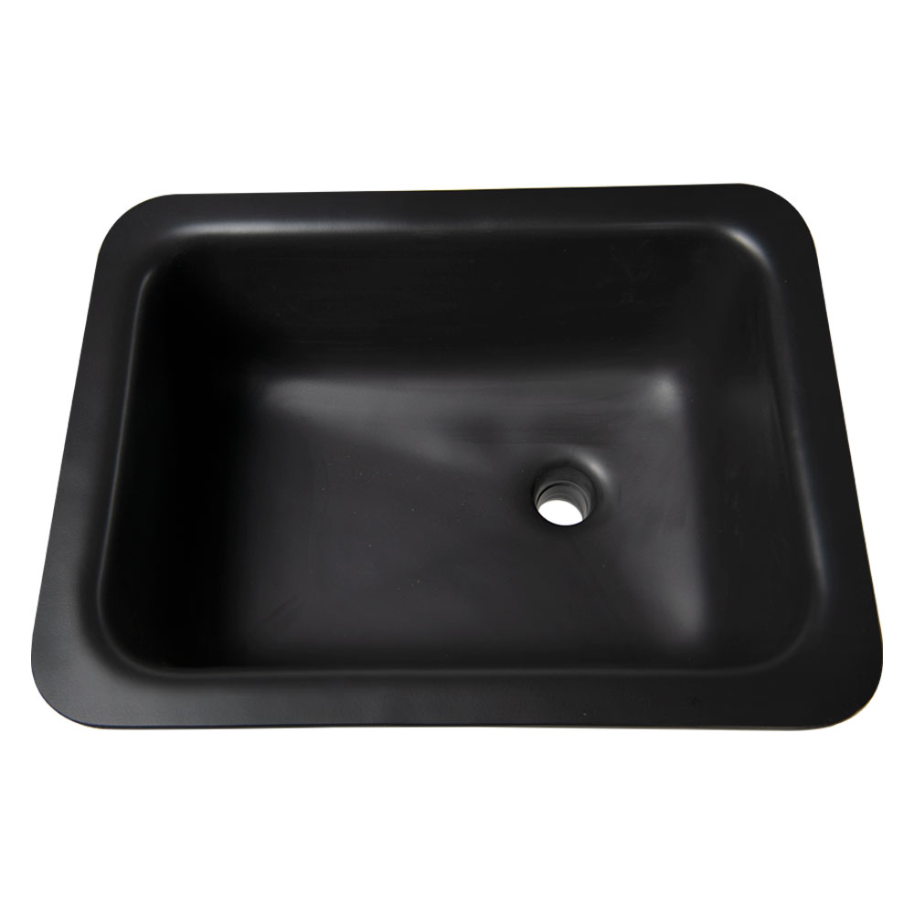 "Sink with Bowl Size 12""L x 12""W x 8""D Top Size 14 1/2""L x 14 1/2""W"
