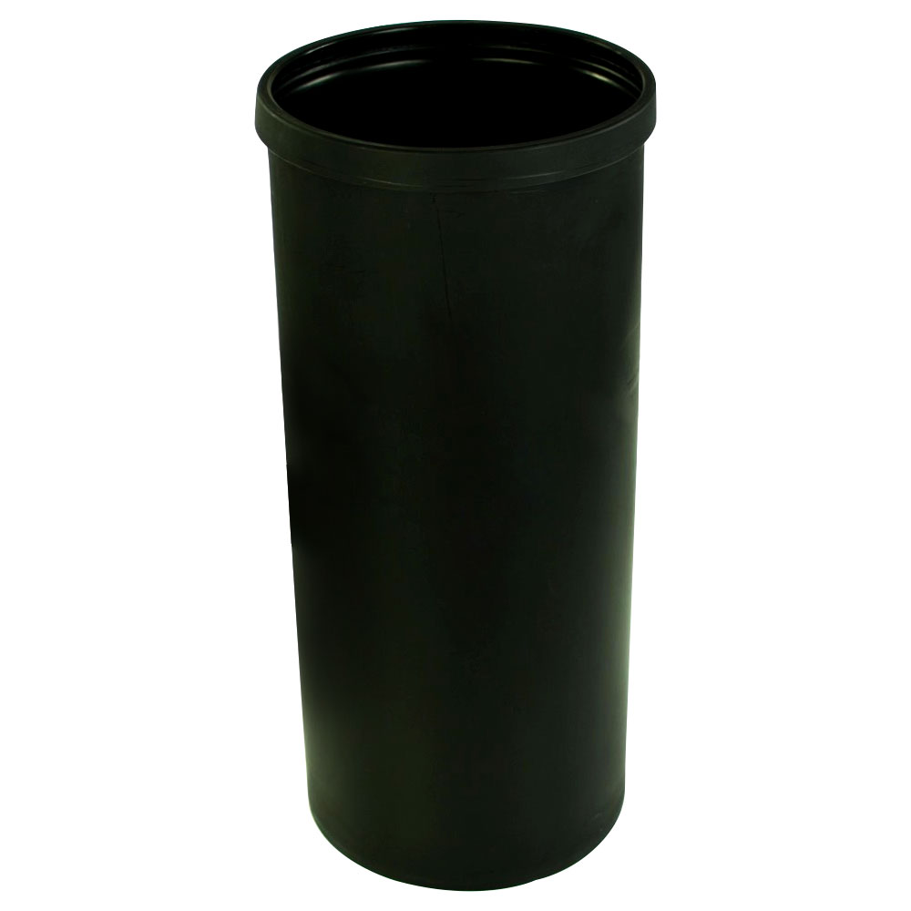 """15 Gallon Black Heavy Weight Tamco® Tank - 13"""" Dia. x 30"""" Hgt. (Cover Sold Separately)"""