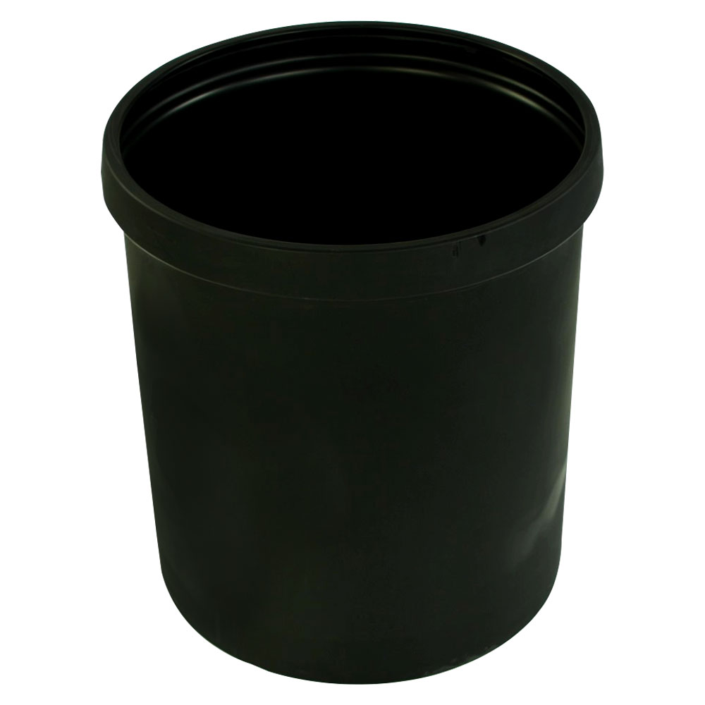 """20 Gallon Black Heavy Weight Tamco® Tank - 19"""" Dia. x 22"""" Hgt. (Cover Sold Separately)"""