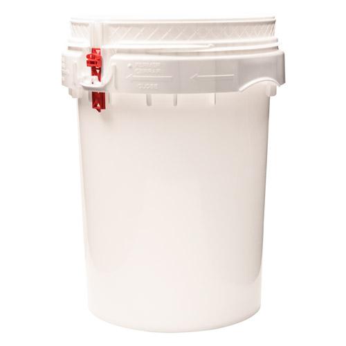 Life Latch® White 12 Gallon Plastic Drum
