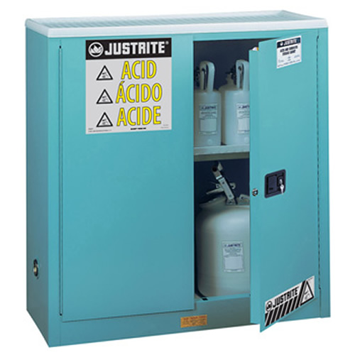 30 Gallon Manual-close Justrite® Sure-Grip® EX Cabinets for Corrosives