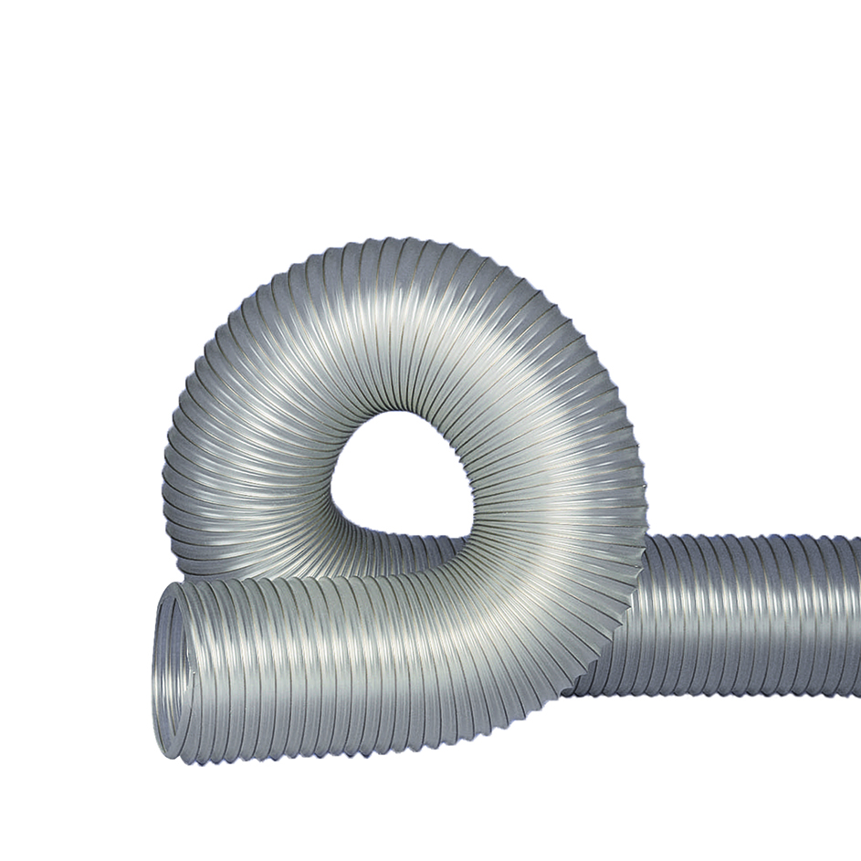 """6"""" I.D. UFD.020 Clear Thermo Polyurethane Flexible Duct"""