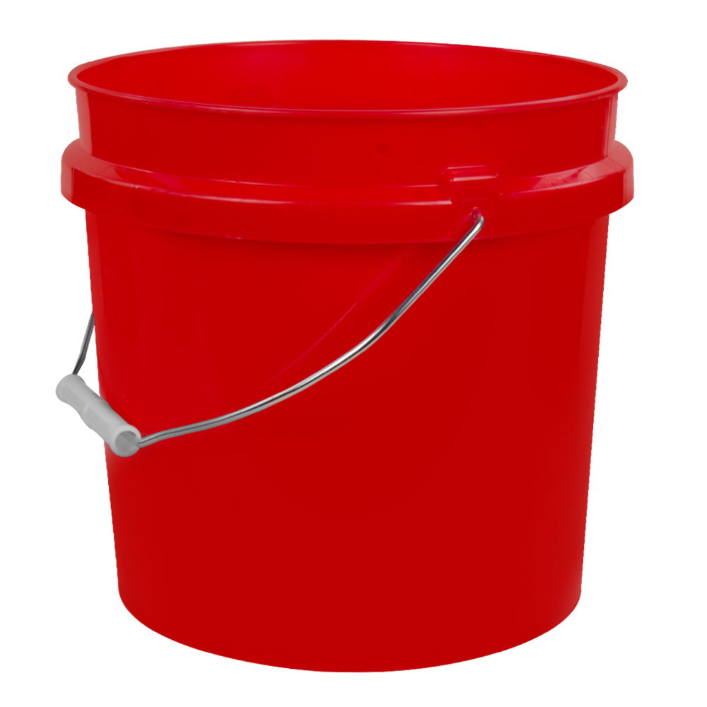 2 Gallon HDPE Colored Buckets & Tear-Tab Lids