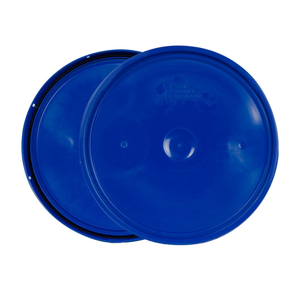Chevron Blue 2 Gallon Lid with Tear Tab