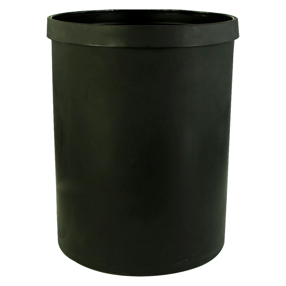 """55 Gallon Black Heavy Weight Tank - 24"""" Dia. x 31"""" High (Cover Sold Separately)"""