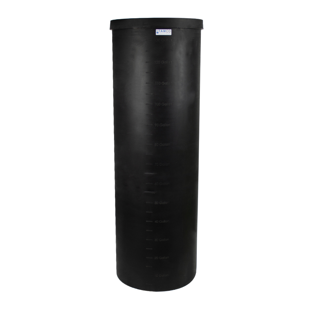 "135 Gallon Black Heavy Weight Tank - 24"" Dia. x 74"" High (Cover Sold Separately)"