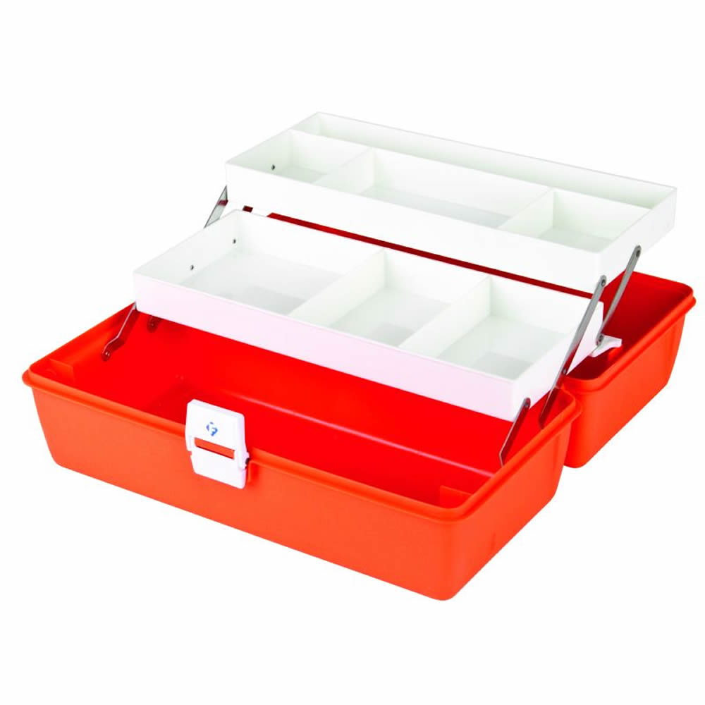 """First Aid Case with 8 Compartments - 15"""" L x 6-3/4"""" W x 6-1/2"""" Hgt."""