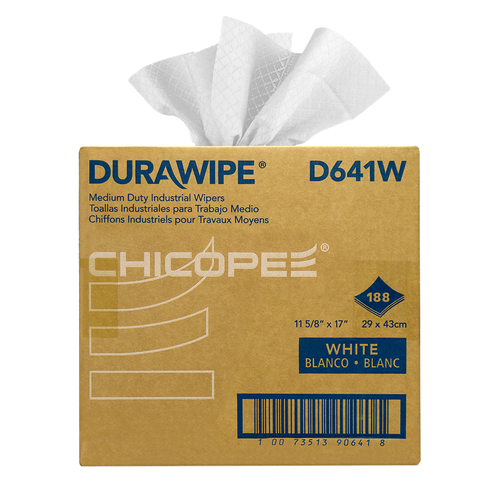 "11.62"" x 17"" White Medium-DutyWipers 60 gsm - 188 Wipes/Dual Pop-Up Box"