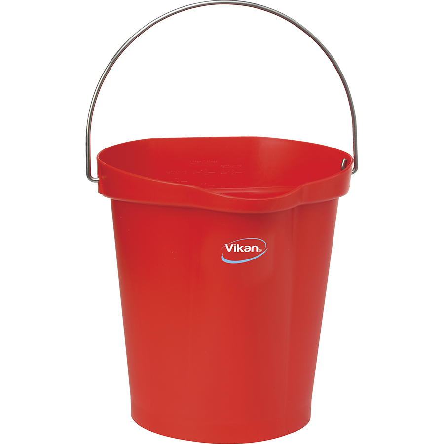 Vikan® Polypropylene Red 3 Gallon Pail