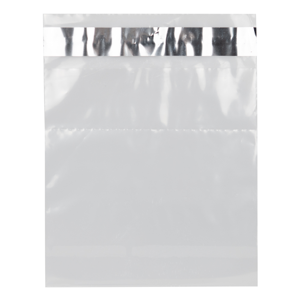 "8"" x 10"" x 2 mil Clear Tamper Evident Adhensive Bags"
