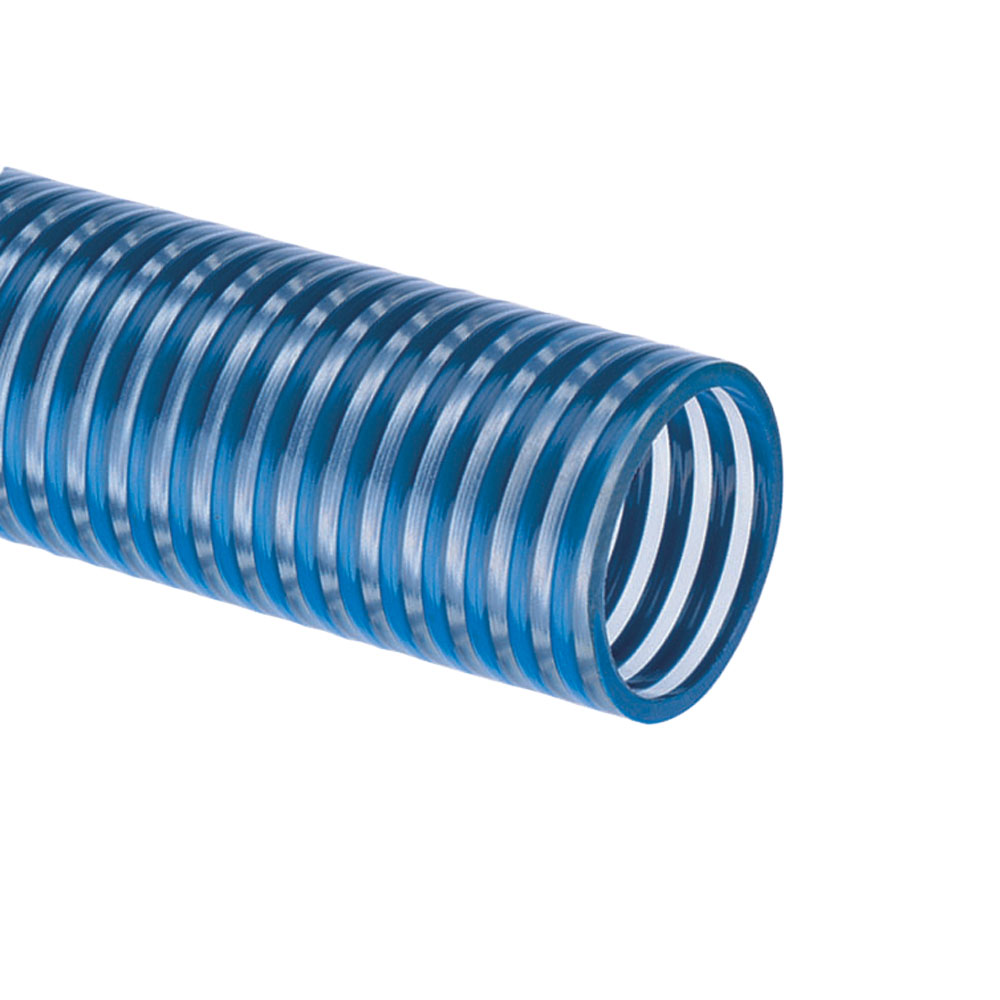 "6"" ID x 6.69"" OD Blue Water™ Low Temperature PVC Suction Hose"