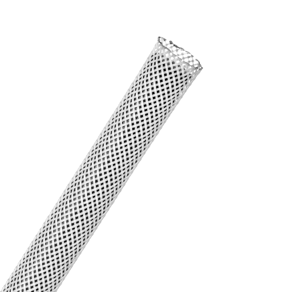 "3/8"" White Flexo® PET Braided Sleeving"