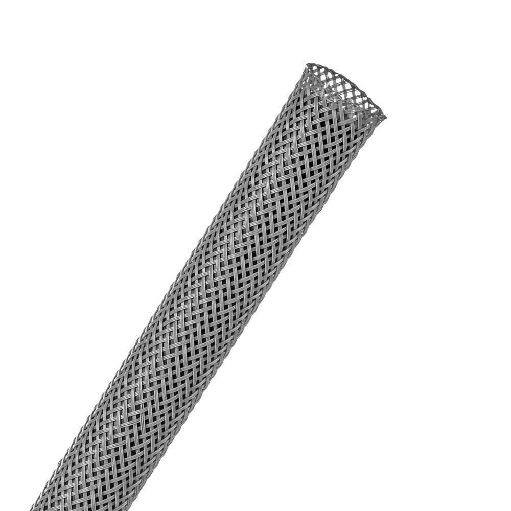 "3/8"" Gray Flexo® PET Braided Sleeving"