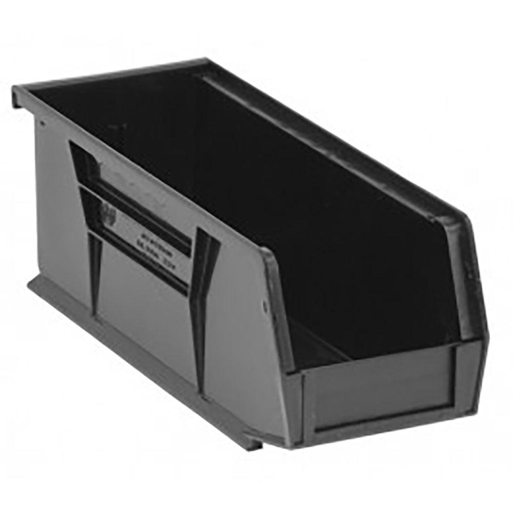 """Black Quantum® Ultra Series Recycled Stack & Hang Bin - 10-7/8"""" L x 4-1/8"""" W x 4"""" Hgt."""