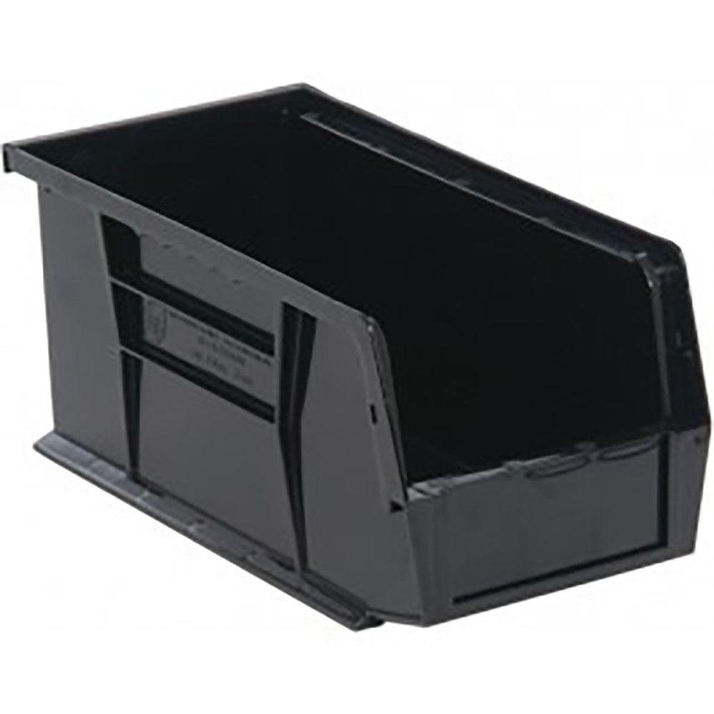 "Black Quantum® Ultra Series Recycled Stack & Hang Bin - 10-7/8"" L x 5-1/2"" W x 5"""