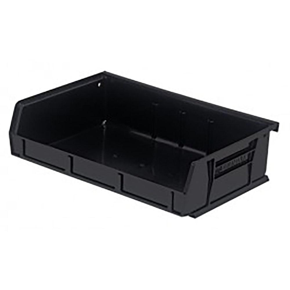 """Black Quantum® Ultra Series Recycled Stack & Hang Bin - 7-3/8"""" L x 11"""" W x 3"""" Hgt."""