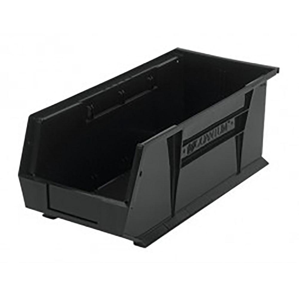 """Black Quantum® Ultra Series Recycled Stack & Hang Bin - 18"""" L x 8-1/4"""" W x 7"""" Hgt."""