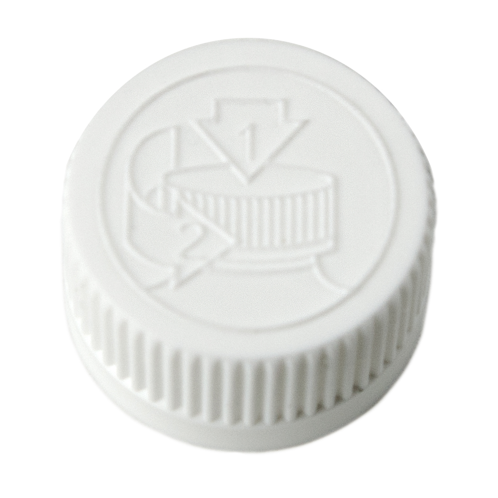 24/400 White CRC Cap with F217 Liner