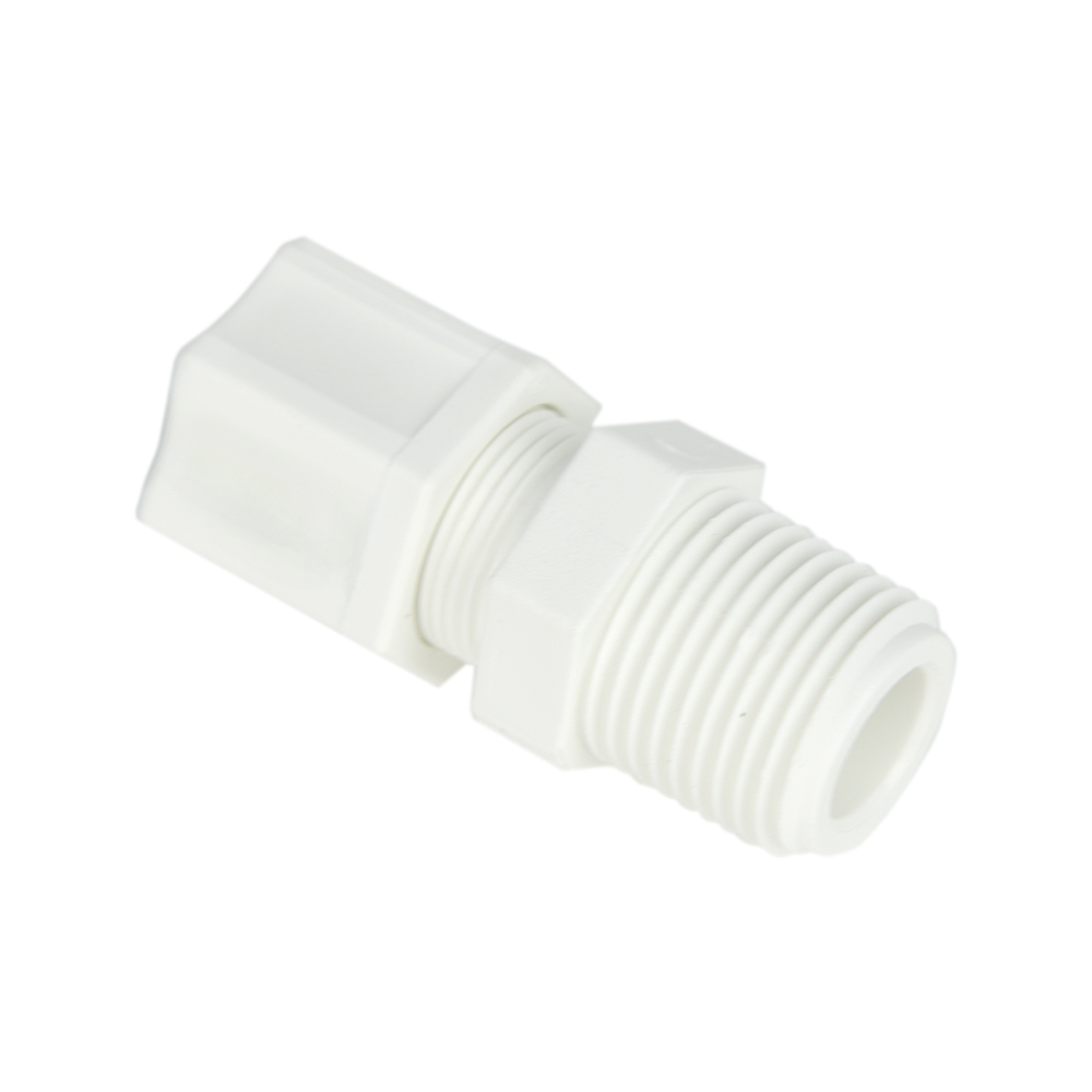 "1/2"" OD Tube x 1/2"" MPT Polypropylene Male Connector"