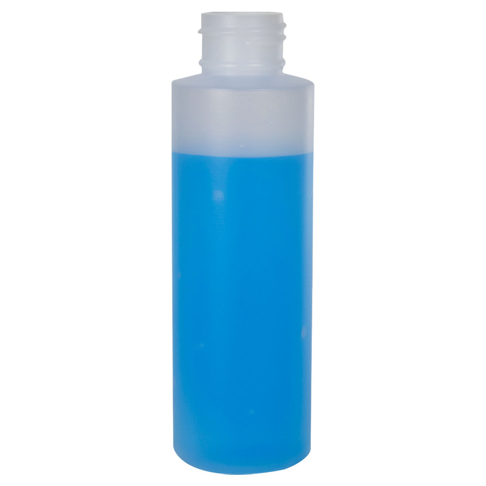 4 oz. Natural HDPE Cylindrical Sample Bottle with 24/410 Neck (Cap Sold Separately)