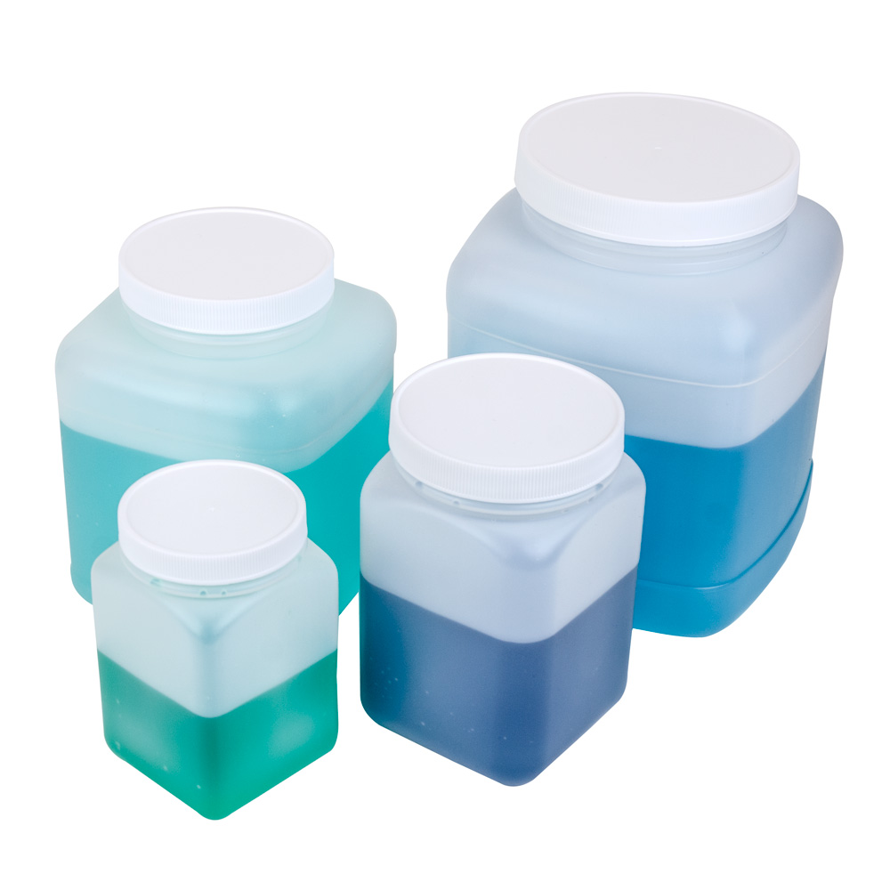 HDPE Square Jars with Caps