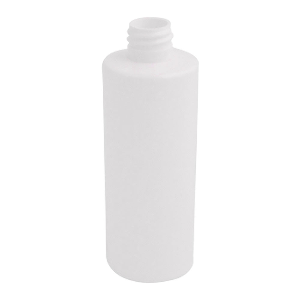 4 oz. White HDPE Cylindrical Sample Bottle with 24/410 Neck (Cap Sold Separately)
