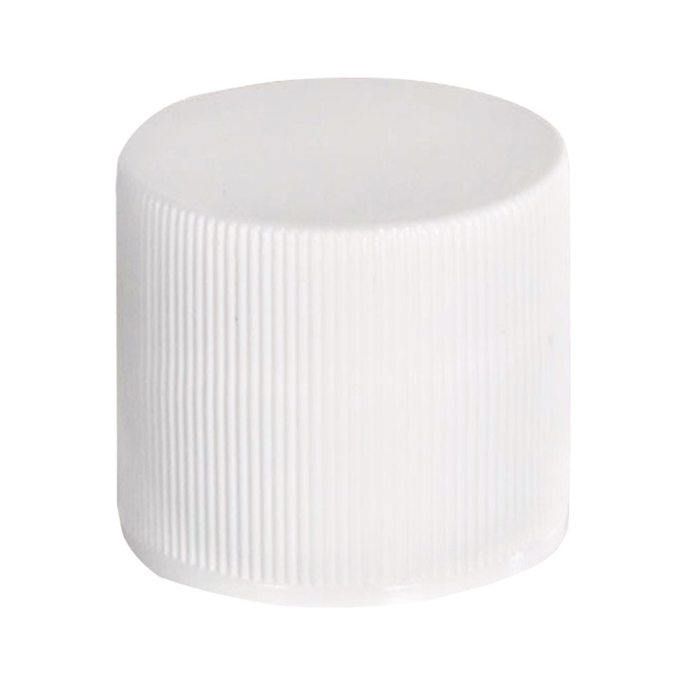 20/410 White Polypropylene Ribbed Cap with F217 Liner