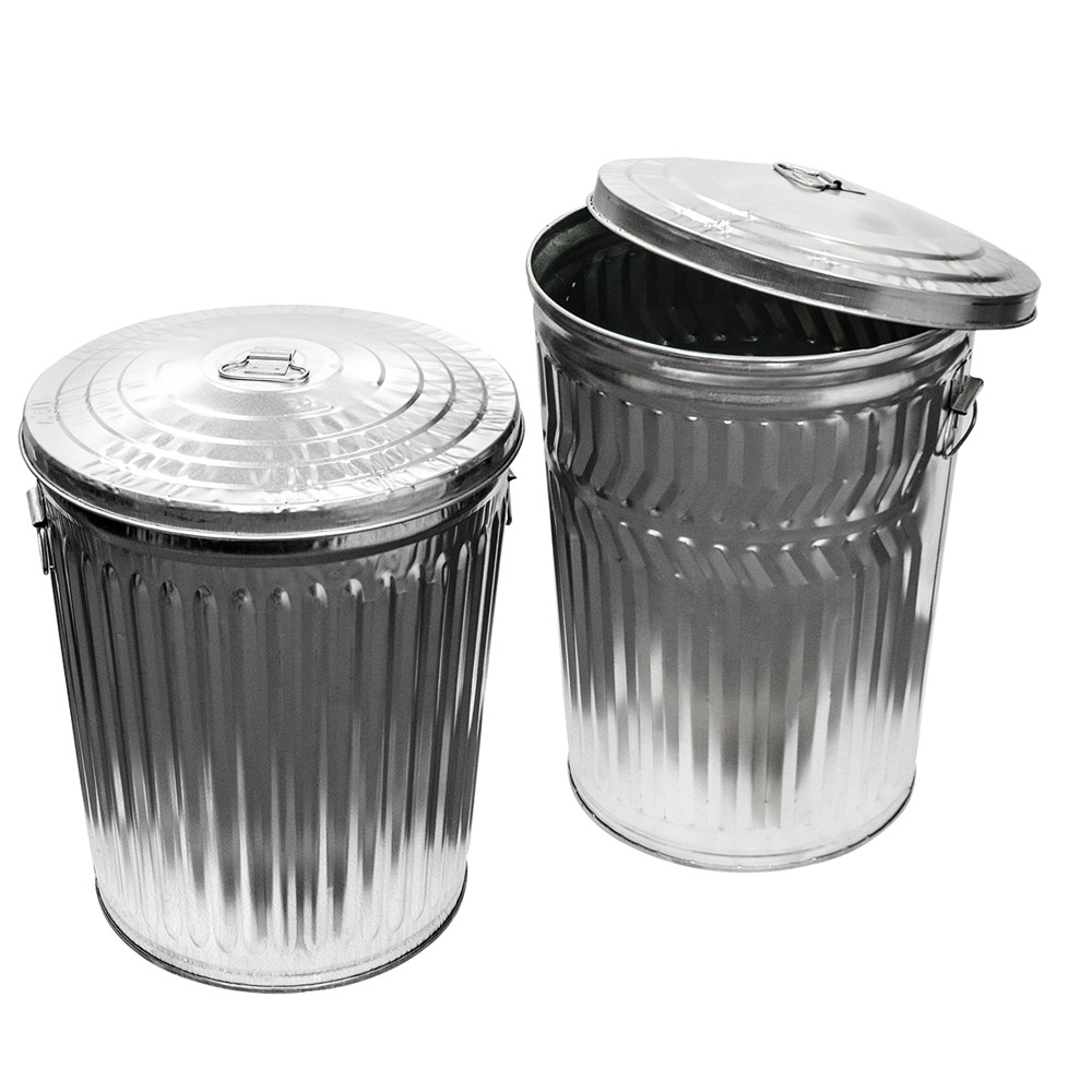 Galvanized Steel Trash Cans & Lids | U.S. Plastic Corp.