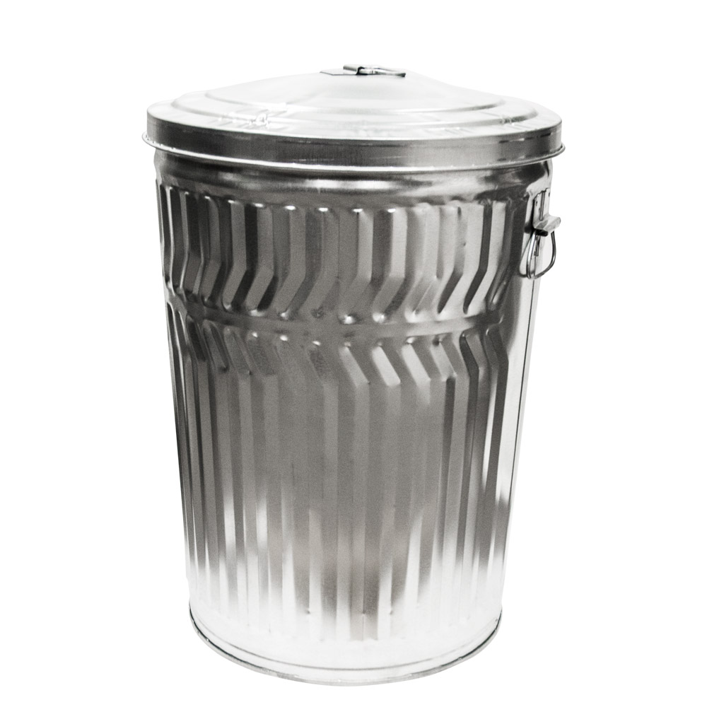 20 Gallon Galvanized Steel Trash Can & Lid