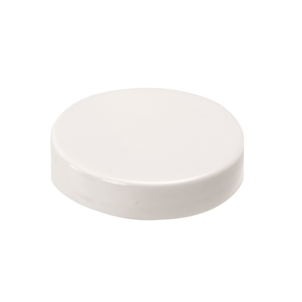 53/400 White Polypropylene Smooth Unlined Cap