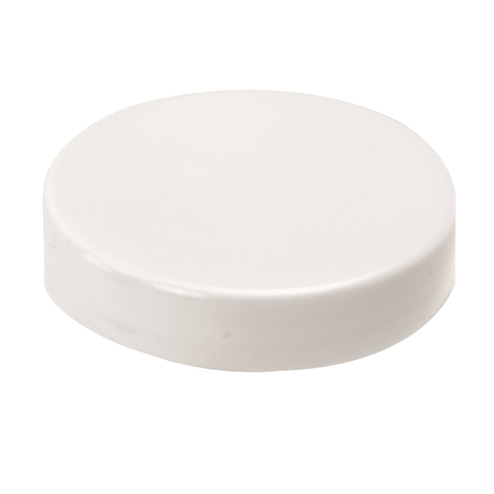100/400 White Polypropylene Smooth Unlined Cap
