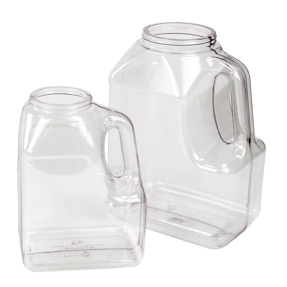 210 oz. Multi-Use Clear PVC Container with Handle & 110/400 Neck  (Cap Sold Separately)