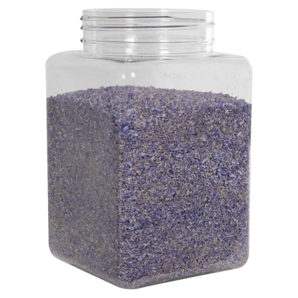 87 oz. Clear PET Square Jar with 110mm Neck (Caps Sold Separately)