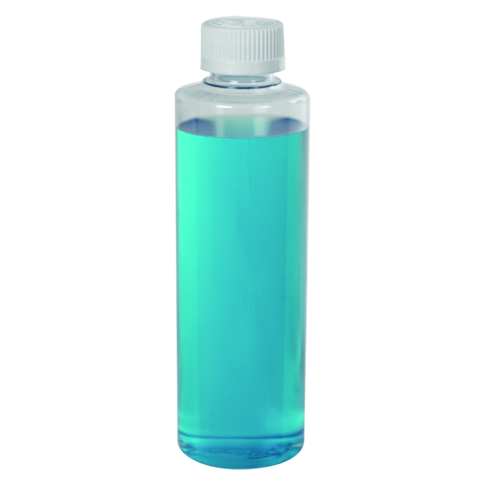 Clear PVC Cylindrical Bottles with CRC Caps