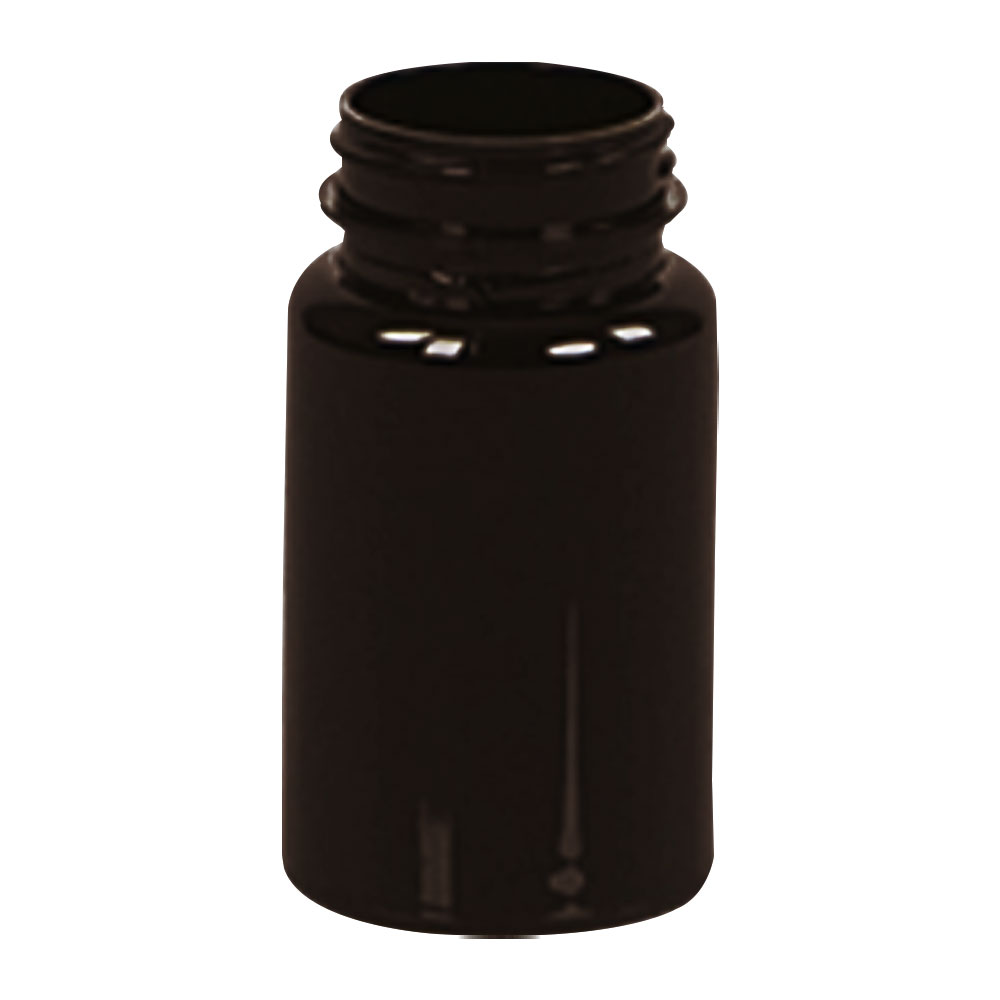 100cc Dark Amber PET Packer Bottle with 38/400 Neck (Cap Sold Separately)