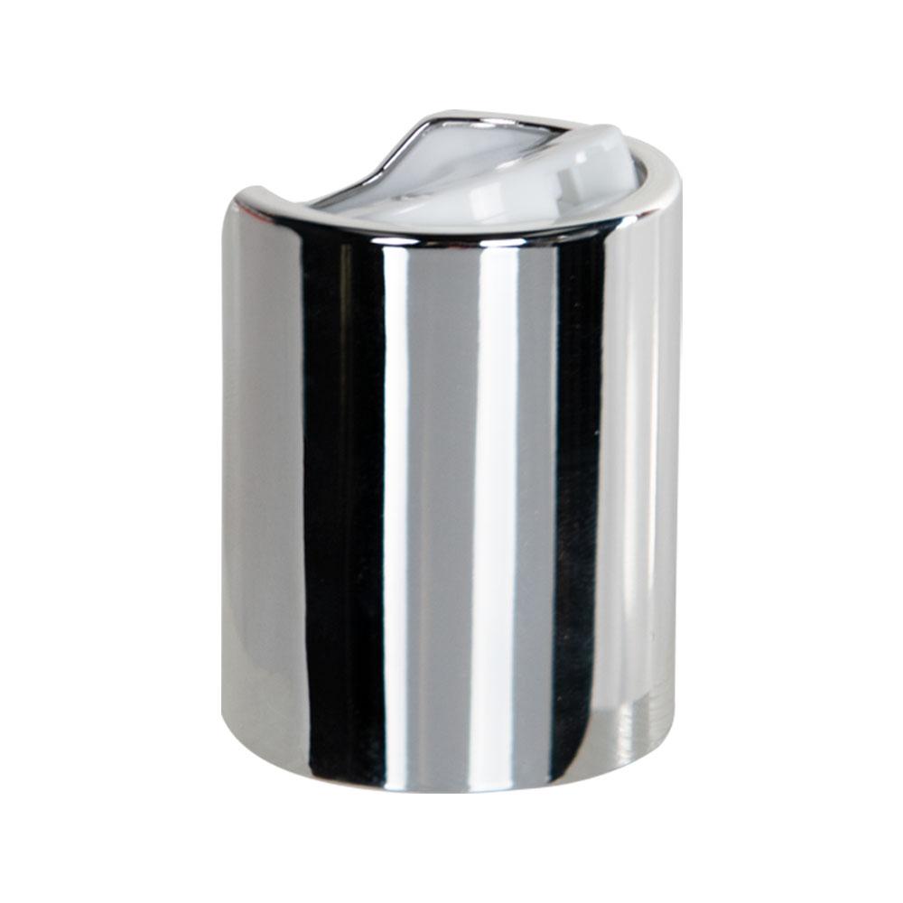 24/415 Silver & White Disc Dispensing Cap