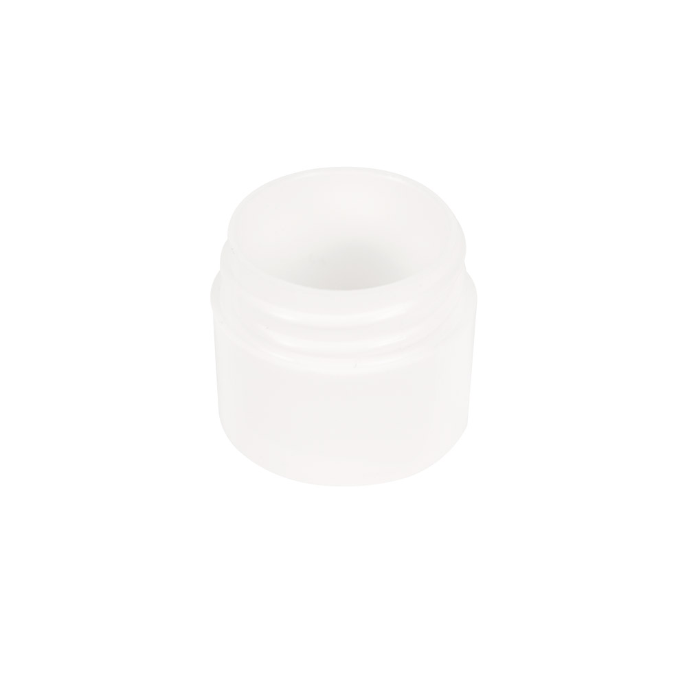 1/4 oz. Polypropylene Straight Sided Thick Walled White Jar with 33/400 Neck (Cap Sold Separately)