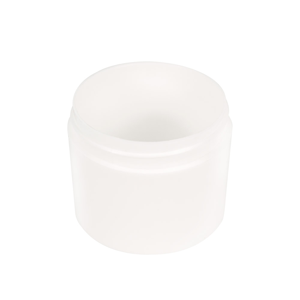 2 oz. Polypropylene Straight Sided Thick Walled White Jar with 58/400 Neck (Cap Sold Separately)