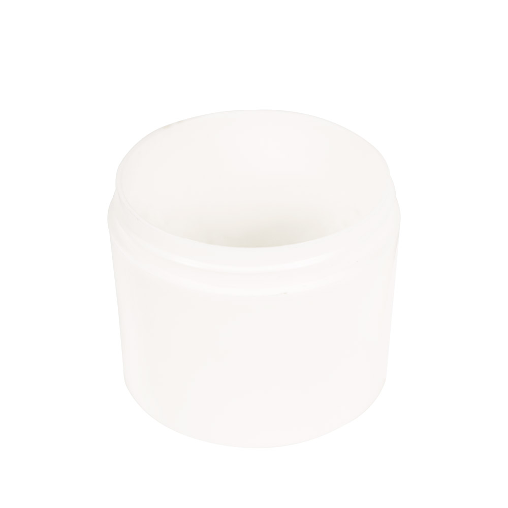 4 oz. Polypropylene Straight Sided Thick Walled White Jar with 70/400 Neck (Cap Sold Separately)