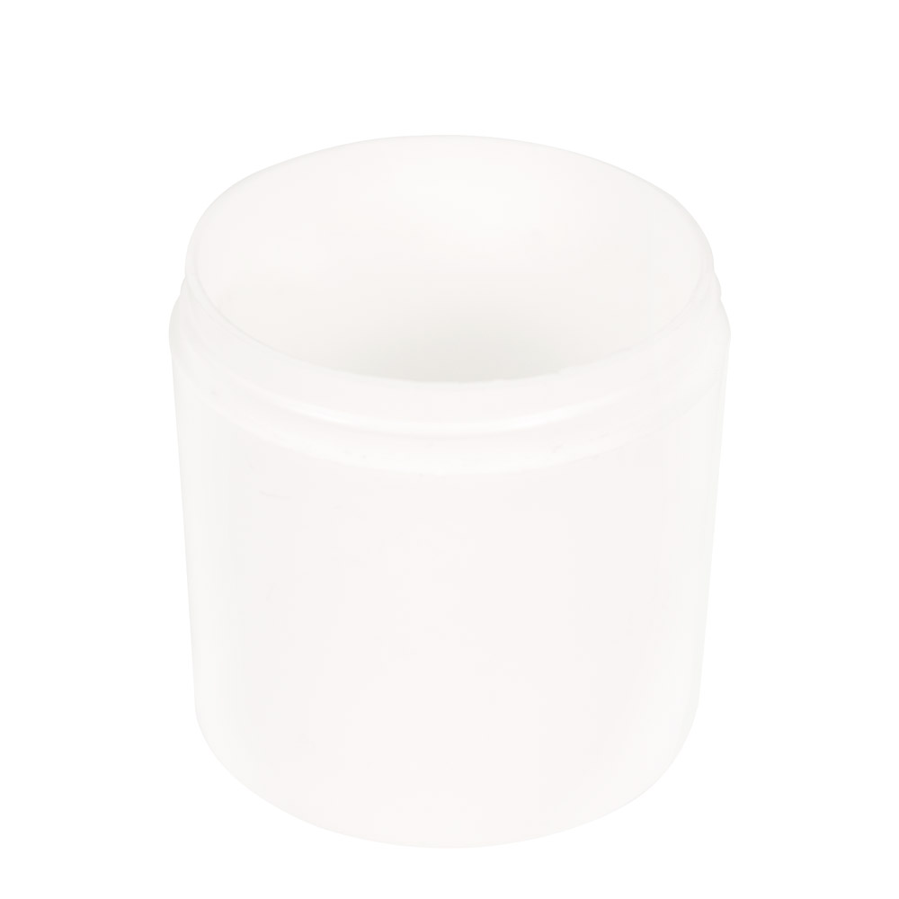6 oz. Polypropylene Straight Sided Thick Walled White Jar with 70/400 Neck (Cap Sold Separately)