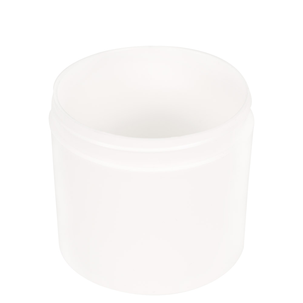 12 oz. Polypropylene Straight Sided Thick Walled White Jar with 89/400 Neck (Cap Sold Separately)