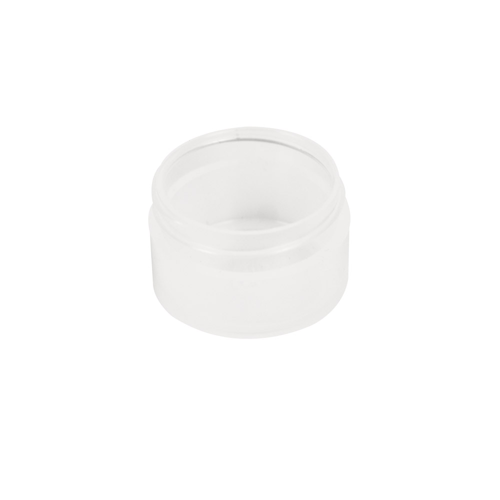 1/2 oz. Polypropylene Straight Sided Thick Walled Natural Jar with 43/400 Neck (Cap Sold Separately)
