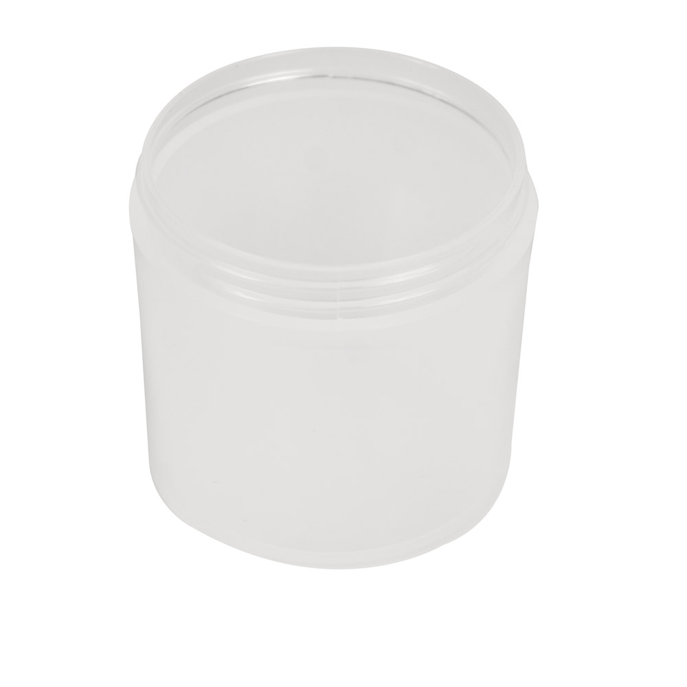 6 oz. PP Straight Sided Thick Walled Natural Jar with 70/400 Neck (Cap Sold Separately)